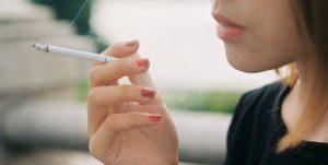 smoking bad skin