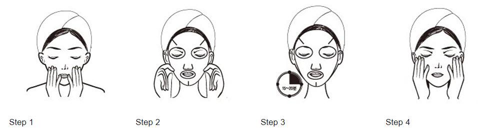 how to use the korea skin mask